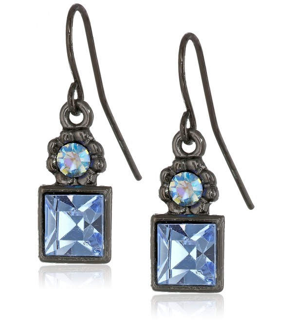 1928 Jewelry Colored Square Drop Earrings - blue - CL111QLKABH