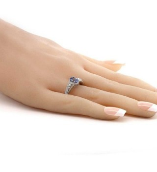 Natural Tanzanite Sterling Silver Womens in Women's Statement Rings