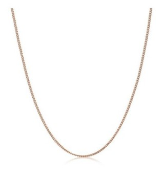 Plated Sterling Silver Necklace Length