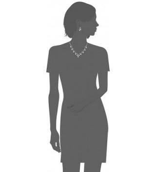 fc3973b22eb Bridal Wedding Prom Jewelry Set Crystal Rhinestone Pear Dangle Pearls Link  Necklace - CK11CCNC9FJ