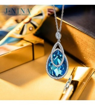 J NINA Sapphire Swarovski Anniversary Girlfriend in Women's Pendants
