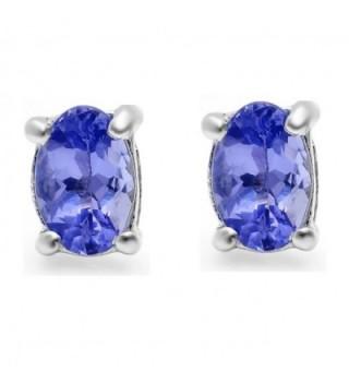 Genuine Tanzanite Earrings Sterling Silver