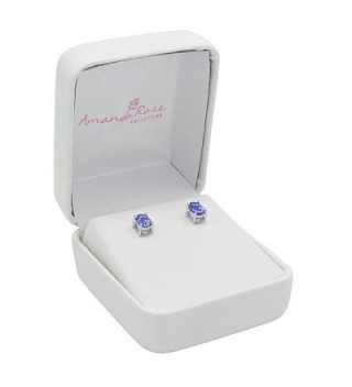 Genuine Tanzanite Earrings Sterling Silver in Women's Stud Earrings
