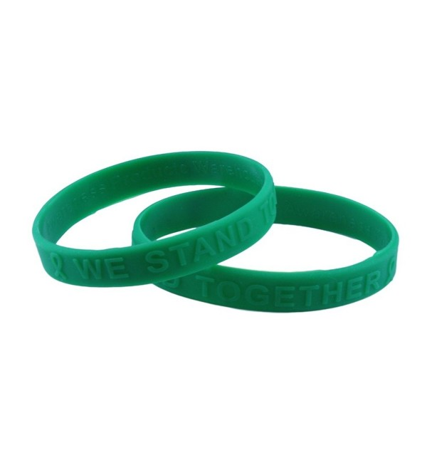 Green Awareness Embossed Silicone Bracelet Buy 1 Give 1 - CR11DEGA95J