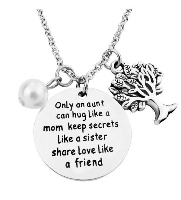 ALoveSoul Only An Aunt Can Hug Like A Mom Keep Secrets Like A Sister Share Love Like A Friend Necklace - CE183KHI2D4