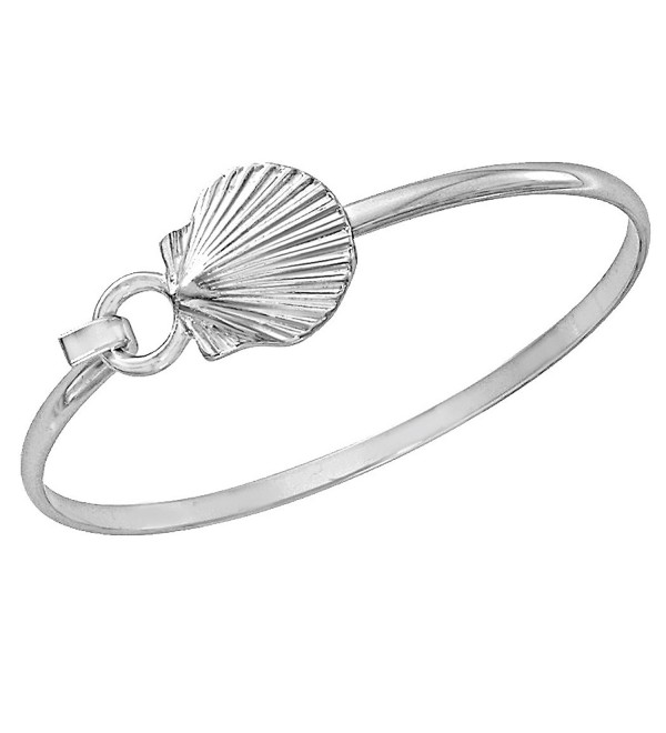 Scallop Shell Bracelet Sea Life Latch Cuff by Cape Cod Jewelry-CCJ - C611SVKEK4Z