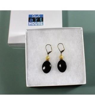 Black Lynx Earrings Dangle Inches