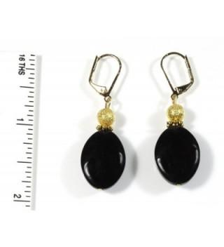 Black Lynx Earrings Dangle Inches in Women's Drop & Dangle Earrings
