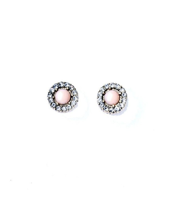Fun Daisy Fashion Ornament Retro Small Crystal Round Flower Stud Earrings Female - ed00544 - CR11LAI0OMB