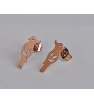 Bird Stud Earrings Parrot Jewelry in Women's Stud Earrings