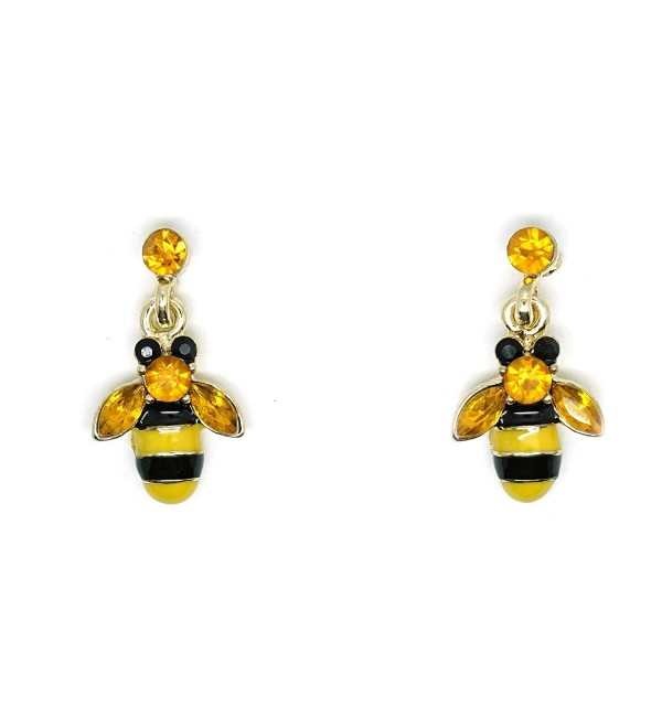 Teri's Boutique Dangly Bumble Honey Bee Lover Cute Fashion Women Kids Ear Dangle Earring - CY125DTNCQD
