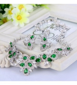 EVER FAITH Graceful Marquise Silver Tone in Women's Jewelry Sets