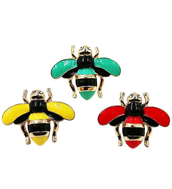 Brooch WESTREE Colorful Enamel Cute Bee Brooch Pins Fashion Jewelry - C918677KM79