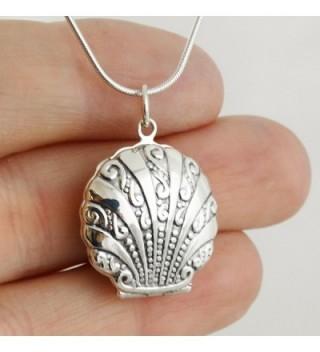 Sterling Silver Nautical Locket Necklace in Women's Lockets