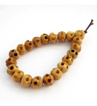 Carved Skull Beads Bracelet Meditation