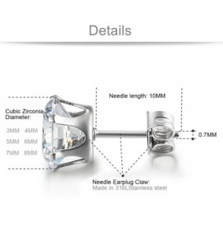 Jstyle Jewelry Stainless Zirconia Earring in Women's Stud Earrings