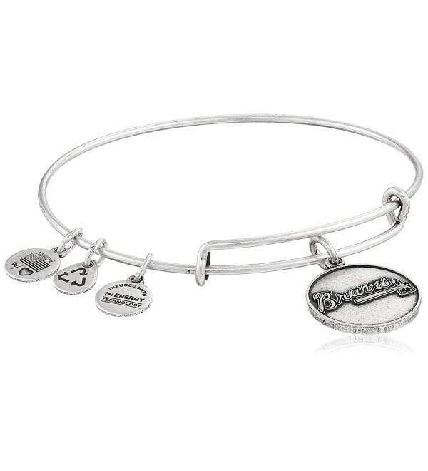 Alex and Ani Atlanta Braves Primary Logo Expandable Bangle Bracelet - Rafaelian Silver - CG11JY3A1SB