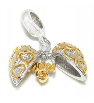 Sterling Dangling Gold colored European Bracelets