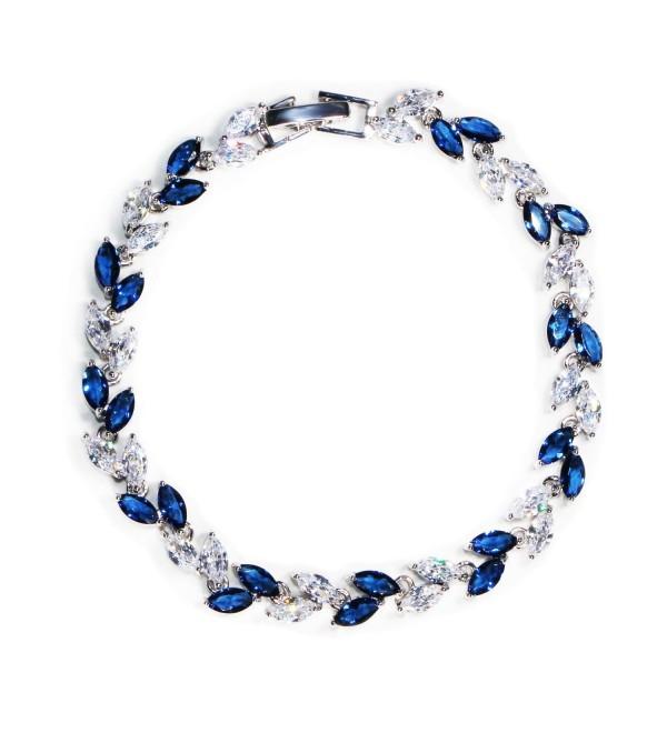Crystal Bracelet Sapphire Birthstone Wedding - Blue - CK1827E8K0U
