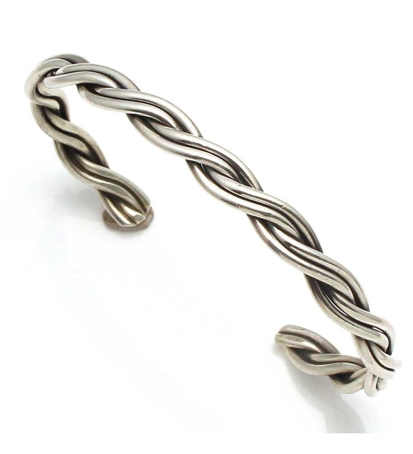 Braided Silver Wire Bracelet by Tahe - CE12NB2SFXE