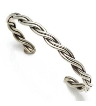 Braided Silver Wire Bracelet by Tahe - CE12NB2SFXE