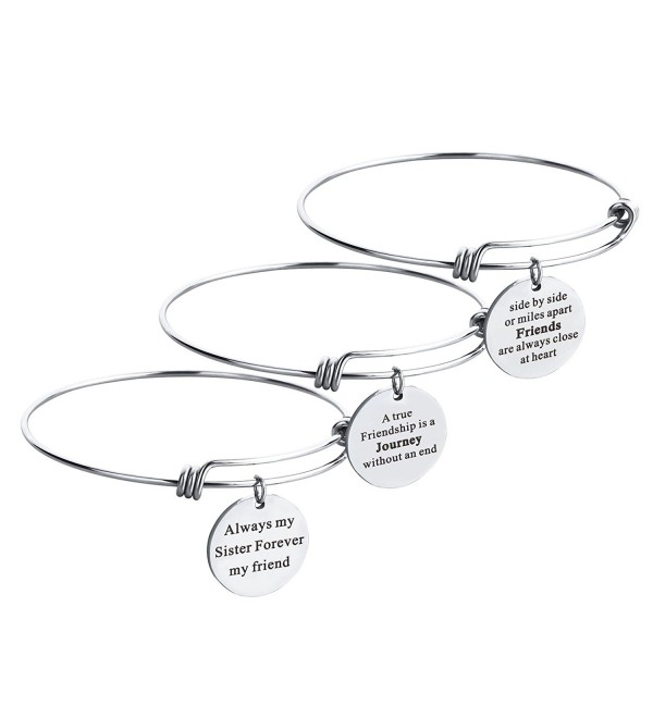 Inspirational Expandable Bracelet Stainless Forever - 65mm Inner Diameter - CG1806DQ9RA