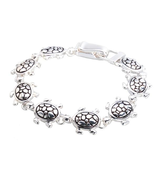 Silver-tone Sea Turtle Bracelet by Jewelry Nexus - C511CXX7EQR