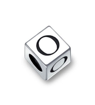 Bling Jewelry 925 Sterling Silver Block Letter O Bead Charm - CZ11565X8M3