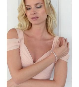 Mariell Pear Shaped Wedding Bridal Bracelet