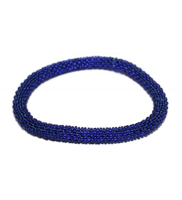 Crochet Bracelet Glass Seed Bead Bracelet Roll on Bracelet Nepal Bracelet SB454 - CQ12BZGQ6L1
