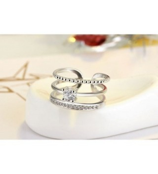 Plated Pieces Solitaire Christmas platinum plated in Women's Band Rings
