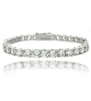 Heart of Charms Cubic Zirconia Classic Tennis Bracelet or Infinity Love Bracelets - CH18546R4A5