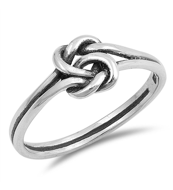 Celtic Knot Criss Cross Woven Thumb Ring New 925 Sterling Silver Band Sizes 3-10 - CX187YZSM08