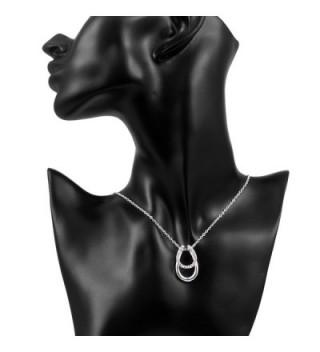 SpinningDaisy Handcrafted Brushed Metal Minimal Horseshoe Necklace