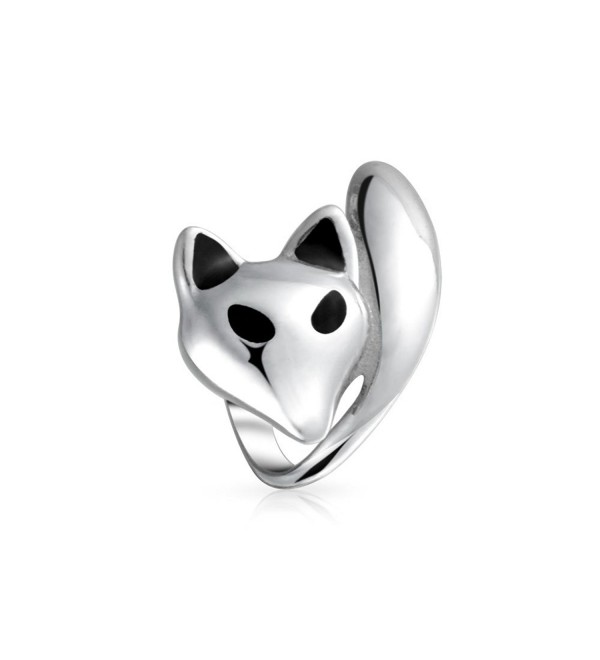 Bling Jewelry Fox Animal Bead Charm .925 Sterling Silver - CF11N0H8IHJ