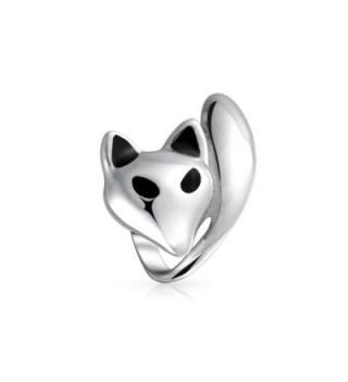 Bling Jewelry Fox Animal Bead Charm .925 Sterling Silver - CF11N0H8IHJ