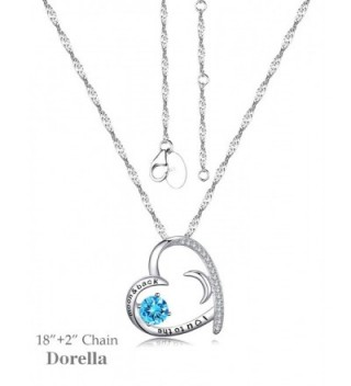 Birthstone Aquamarine Swarovski Necklace Anniversary