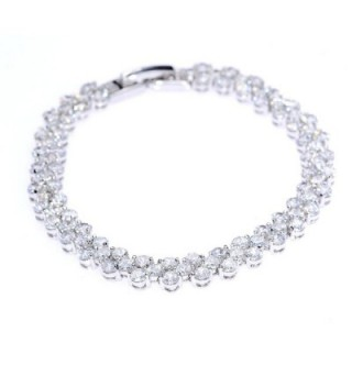 Plated Zircon Fashion Tennis Bracelet
