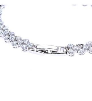Plated Zircon Fashion Tennis Bracelet in Women's Link Bracelets