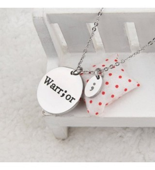 Stamped Fighter Warrior Semicolon Necklace