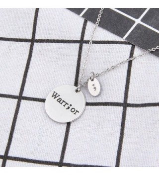 Stamped Fighter Warrior Semicolon Necklace in Women's Pendants