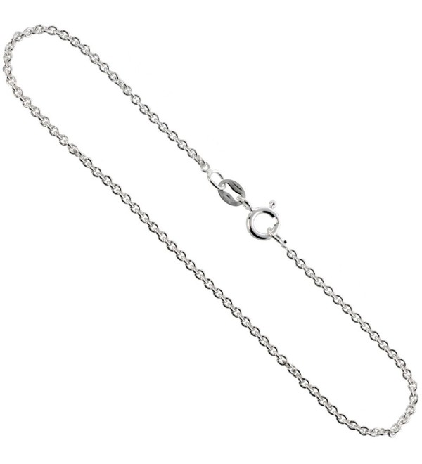 Sterling Silver Cable Chain Necklaces & Bracelets 1.5mm thin Nickel Free Italy- sizes 7 - 30 inches - CF112878V7T