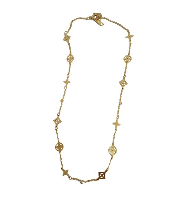 Baoli Rose Gold Multi Clover Diamond Women's Chain necklace - yellow gold - CP12MZFZLI9