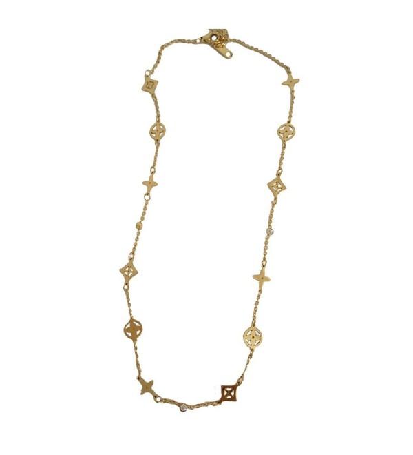 Baoli Rose Gold Multi Clover Diamond Women's Chain necklace - yellow gold - CP12MZFZLI9