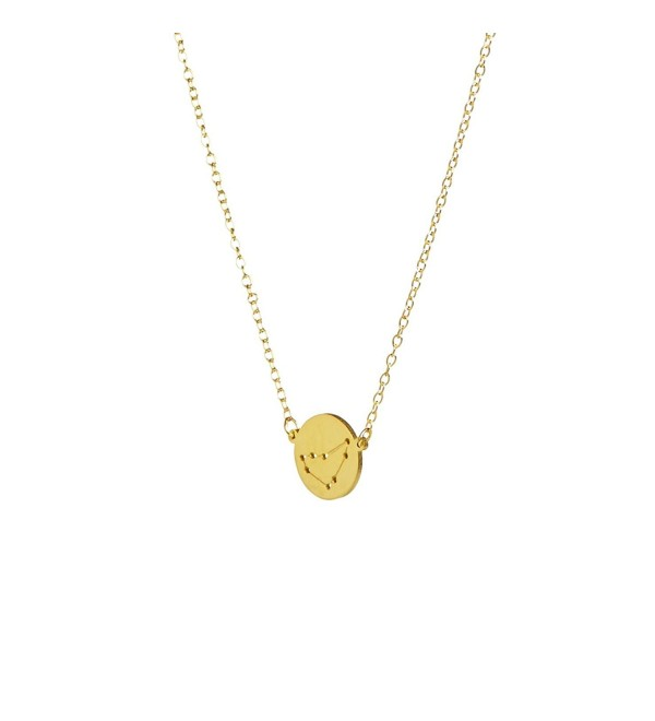 14K Gold-Plated Silver Horoscope Zodiac Necklace - CA12F8KRZQZ
