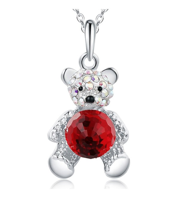 SIVERY Fashion Jewelry Necklace Swarovski - Red - CD17YYELWHA