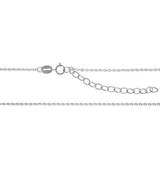 Rhodium Sterling Silver Necklace Extender - C611N3V95CT