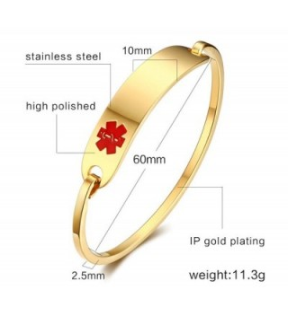 Engraving Stainless Polished Identification Bracelets