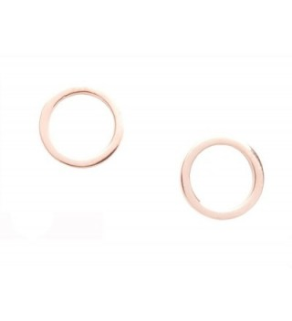 Circle Earrings Minimalist Round Titanium