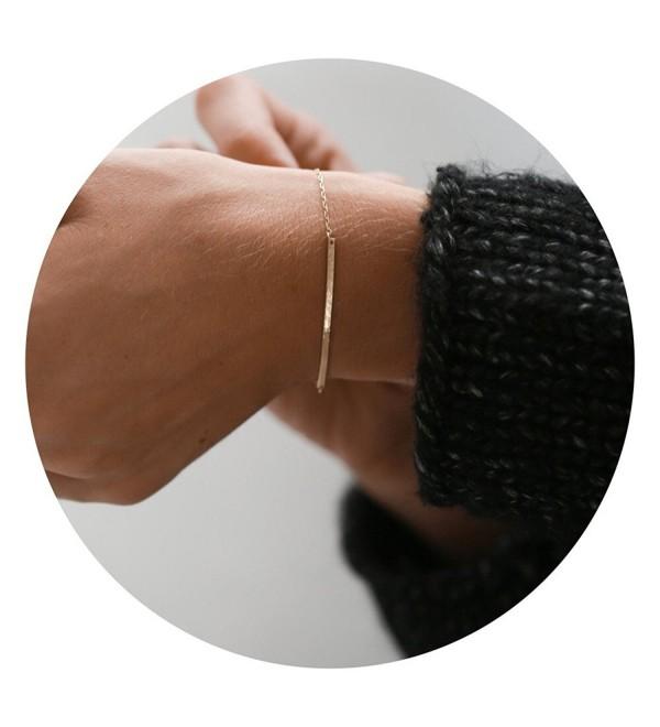 Fettero Adjustable Bracelet Dainty Handmade - Bar - CU188O5WEG6
